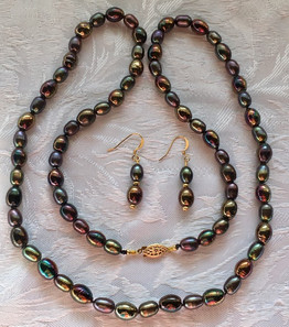 Bronze Freshwater Pearl and Vintage Beads  PP166FE16SET