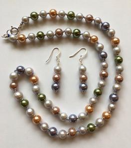 Grey Freshwater Pearls and Vintage Beads PP223ES32SET