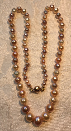 Graduated Round Mixed Pinks Freshwater Pearls FW30S60