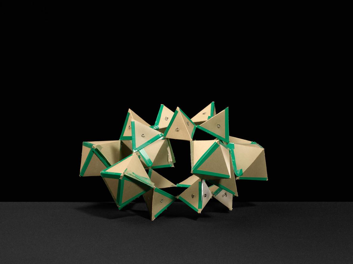Layers of trigonal pyramids
