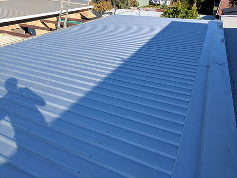 New zincalume roof