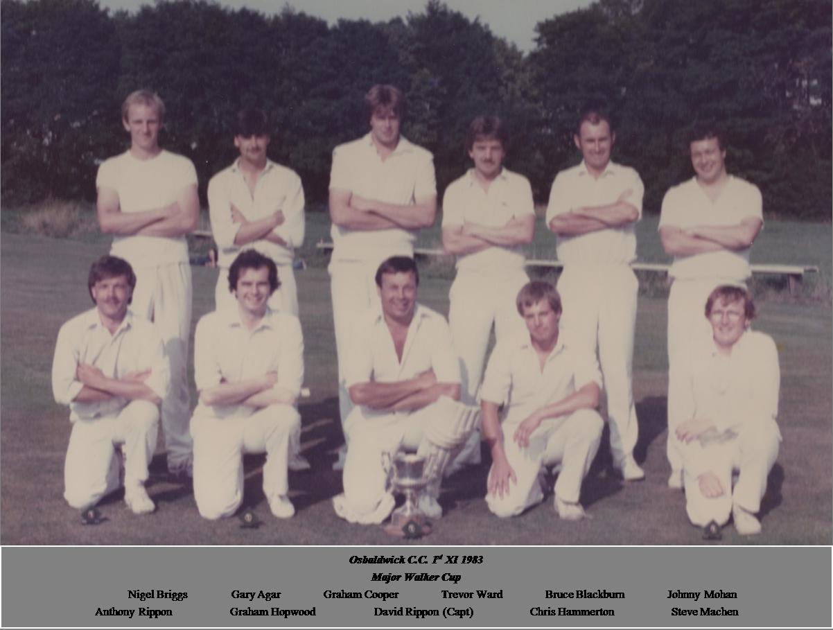 OCC 1st XI 1983