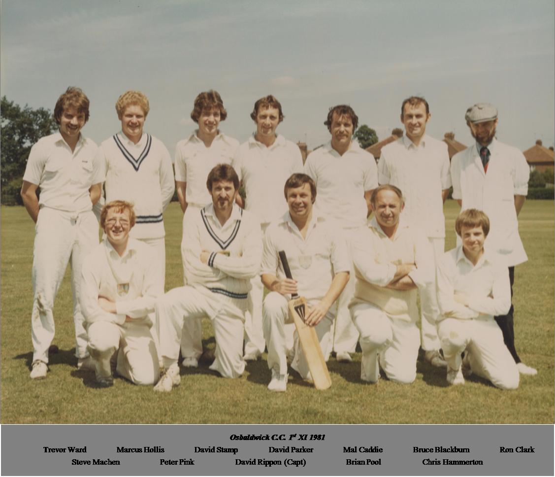 OCC 1st XI 1981