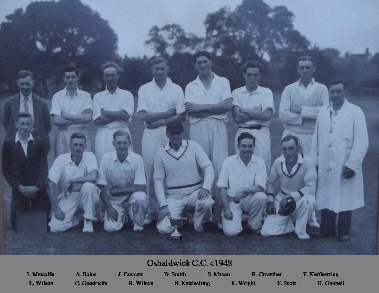 OCC 1st XI 1948