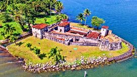 San Felipe linnus Guatemalas, Kariibi meri, koloniaallinnus, hispaanlaste kaitseehitised Kesk-Ameerikas