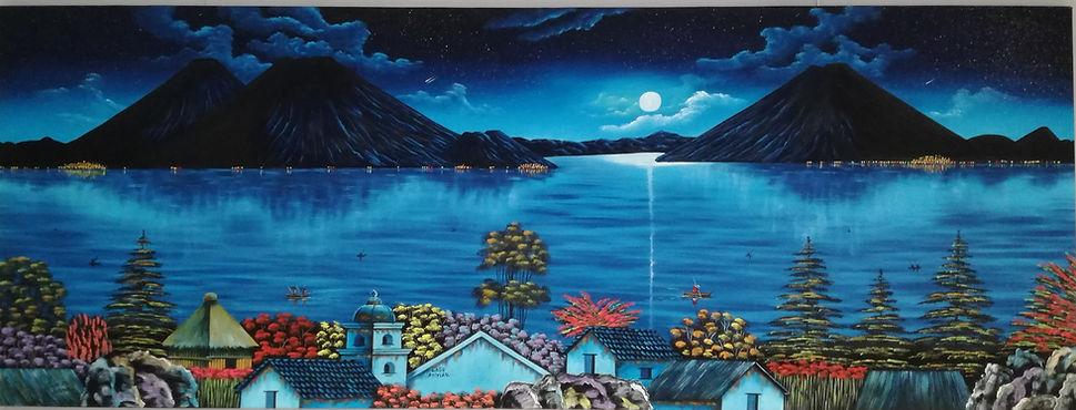 Pintura Atitlan San Juan de la Laguna
