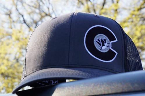 "CCGC Hat Flex Fit mesh (grey/black) ""C""logo"