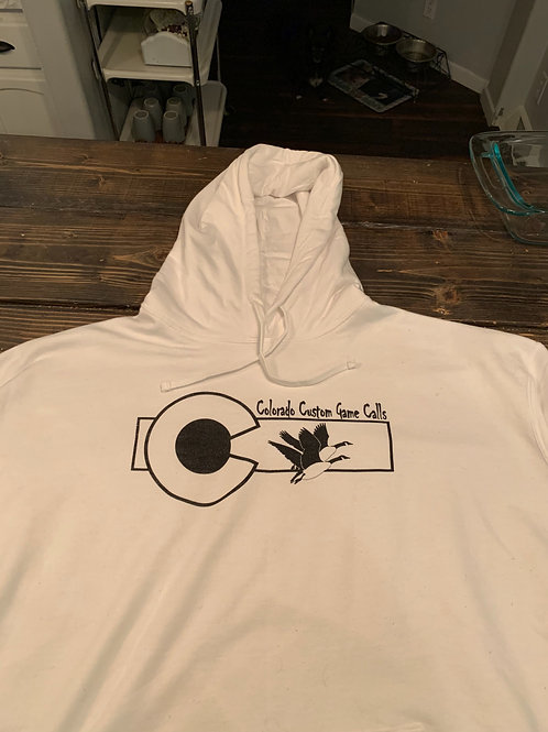 "White Hoodie ""outlined"""