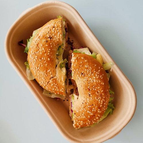 Turkey Ham Sesame Bagel
