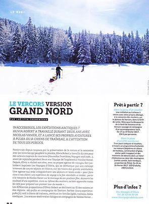 vercors Grand Nord Tourisme Pulka Raquettes
