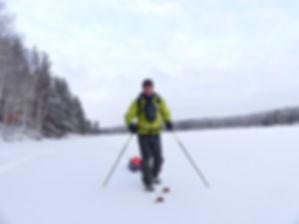 Sur le lac gelé - Carelie