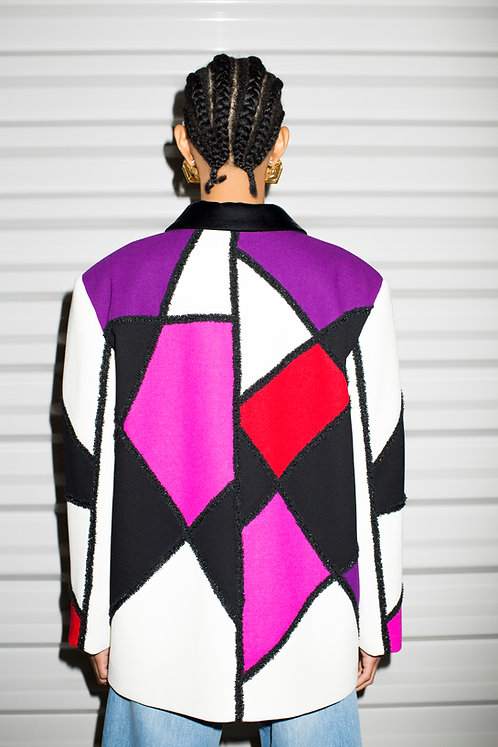 Multicolored Triangles Jacket