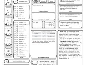 Character Sheet Guide