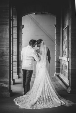 A quiet moment for the Bride & Groom