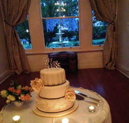 Cake Table at front of room
