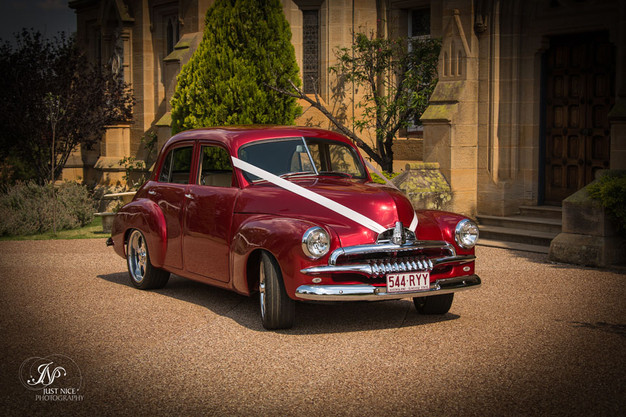 Vintage car at the Abbey.