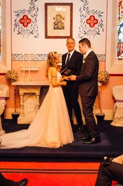 Small wedding ceremony in our private chapel.