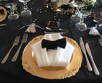 Vintage gatsby table setting