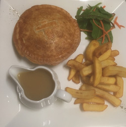 Convent Cafe pie, chips and gravy.