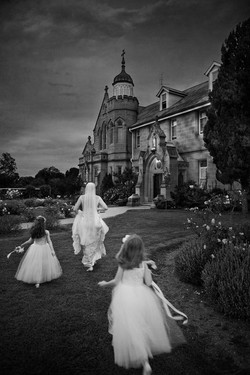 Bride & flower girls running late...