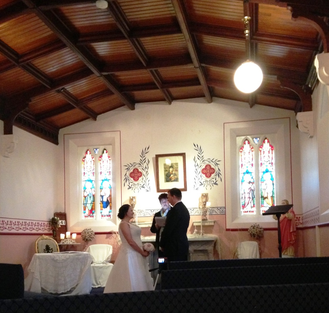 Elopement Ceremony in Chapel