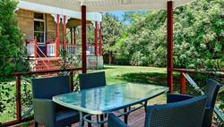 Garden area - Abbey of the Roses accommodaiton Warwick QLD Australia