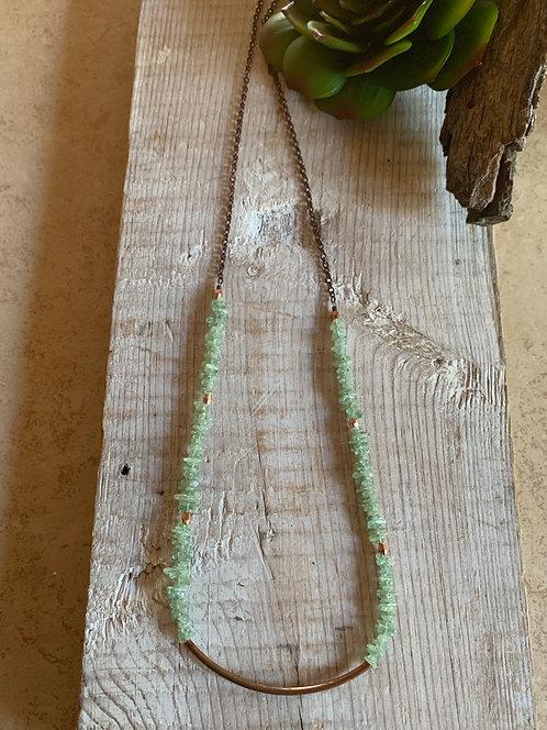 Sticks & Stones: Green Kyanite & Copper Necklace