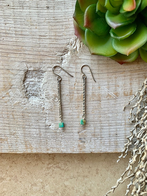 Sticks & Stones: Turquoise & Sterling Silver Earrings
