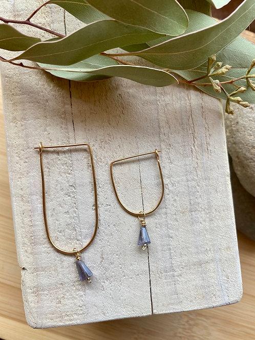 Hammered Hoops: Interchangeable Gemstone Dangles