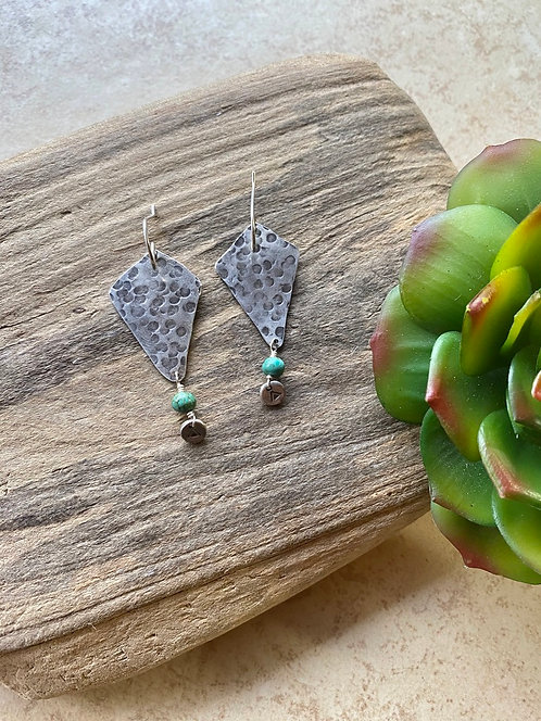 Silver Elements: Turquoise Earrings