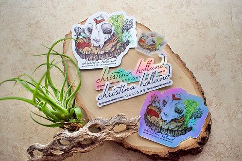 Cat Skull Bundle: Artwork by Nathalie Aall