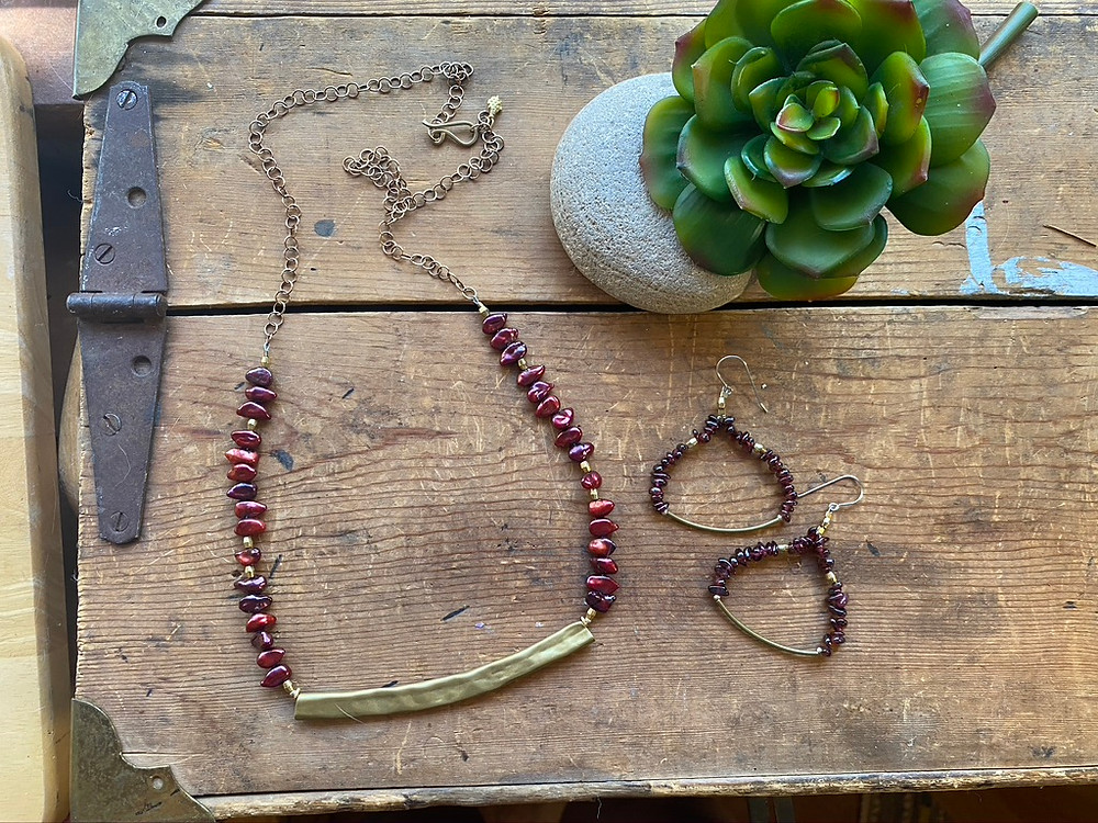 Mesquite Bean inspired Sticks & Stones necklaces by Christina Holland Designs.