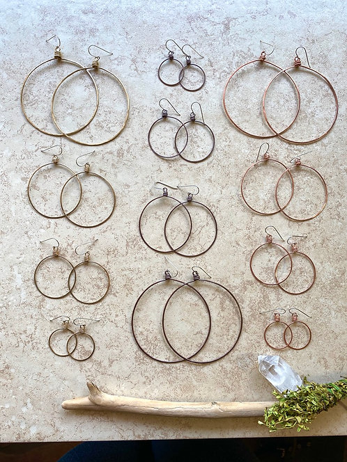 Hammered Hoops: Brass or Copper