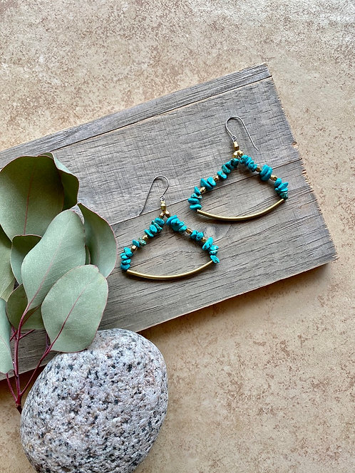 """Sticks & Stones: Turquoise """"Mesquite Bean"""" Earrings"""