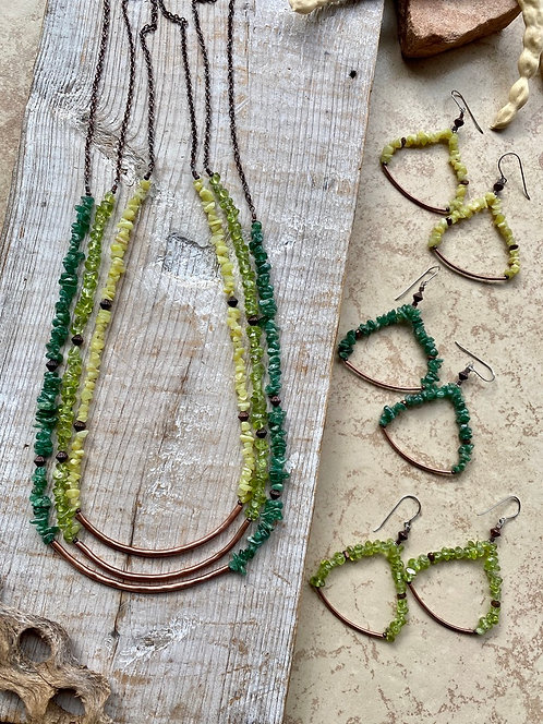 Sticks & Stones: Green Gemstone Necklaces