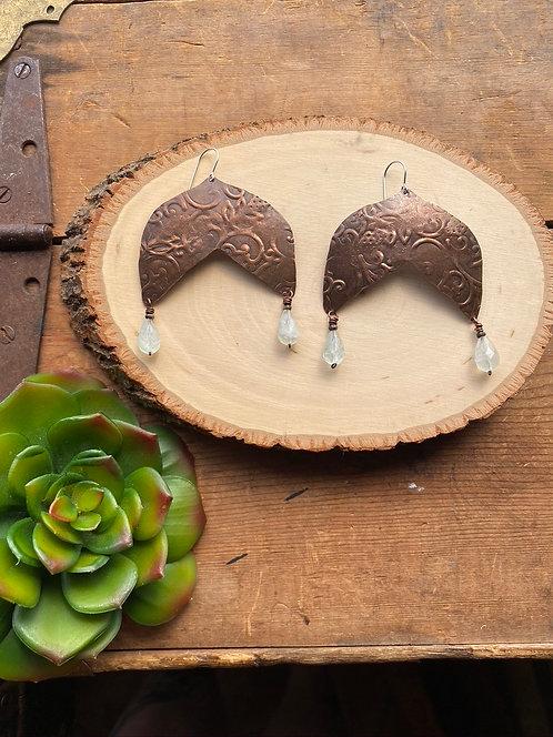 Copper Creations: Aquamarine Earrings