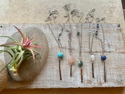 Sticks & Stones: Gemstone Necklaces