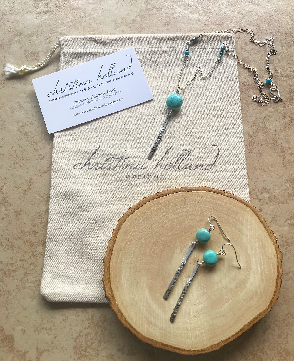 Christina Holland Designs, Sticks & Stones Jewelry in Sterling Silver & Turquoise.