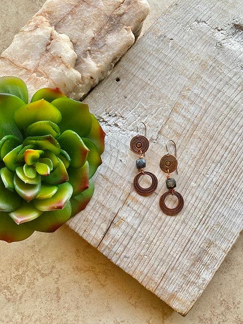 Copper Creations:  Labradorite Earrings