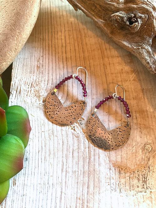 Silver Elements: Garnet Earrings