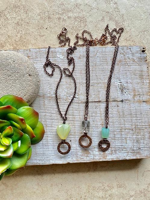 Copper Creations: Gemstone Necklaces