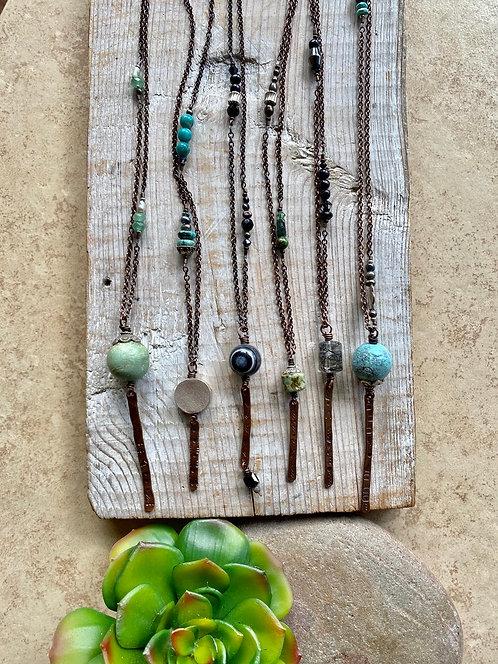 Sticks & Stones: Copper & Gemstone Necklaces