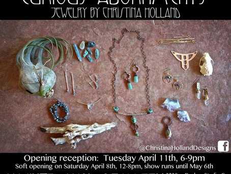 Curious Adornments: A Solo Exhibit at Haunted Hands Gallery (Tucson, AZ)