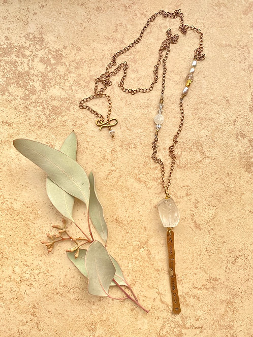 Sticks & Stones: Quartz Crystal Necklace