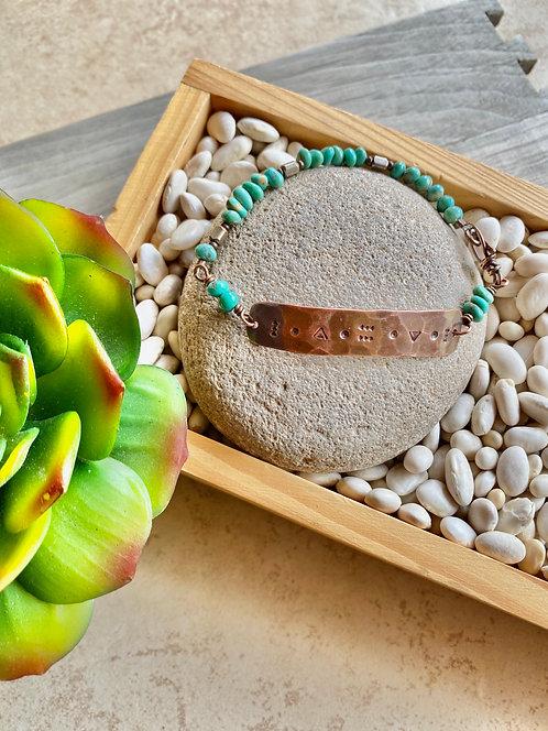 Copper Creations: Turquoise Bracelet