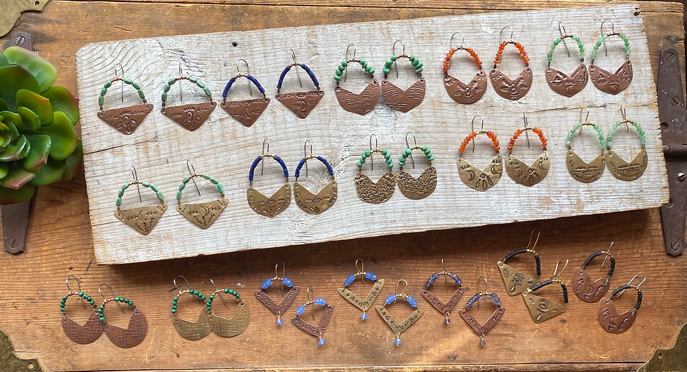 Handcrafted earrings by Christina Holland Designs