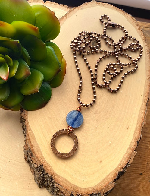 Copper Creations: Blue Kyanite Necklace