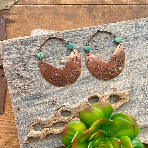 Copper Creations: Turquoise Earrings