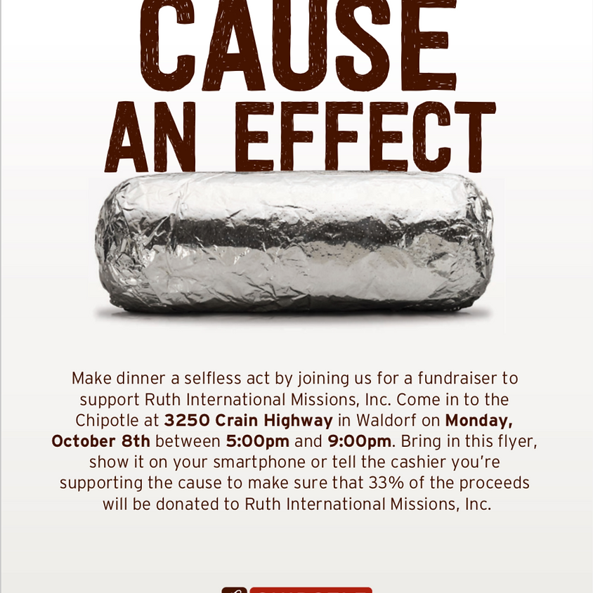 Cause An Effect (Fundraiser at Chipotle)