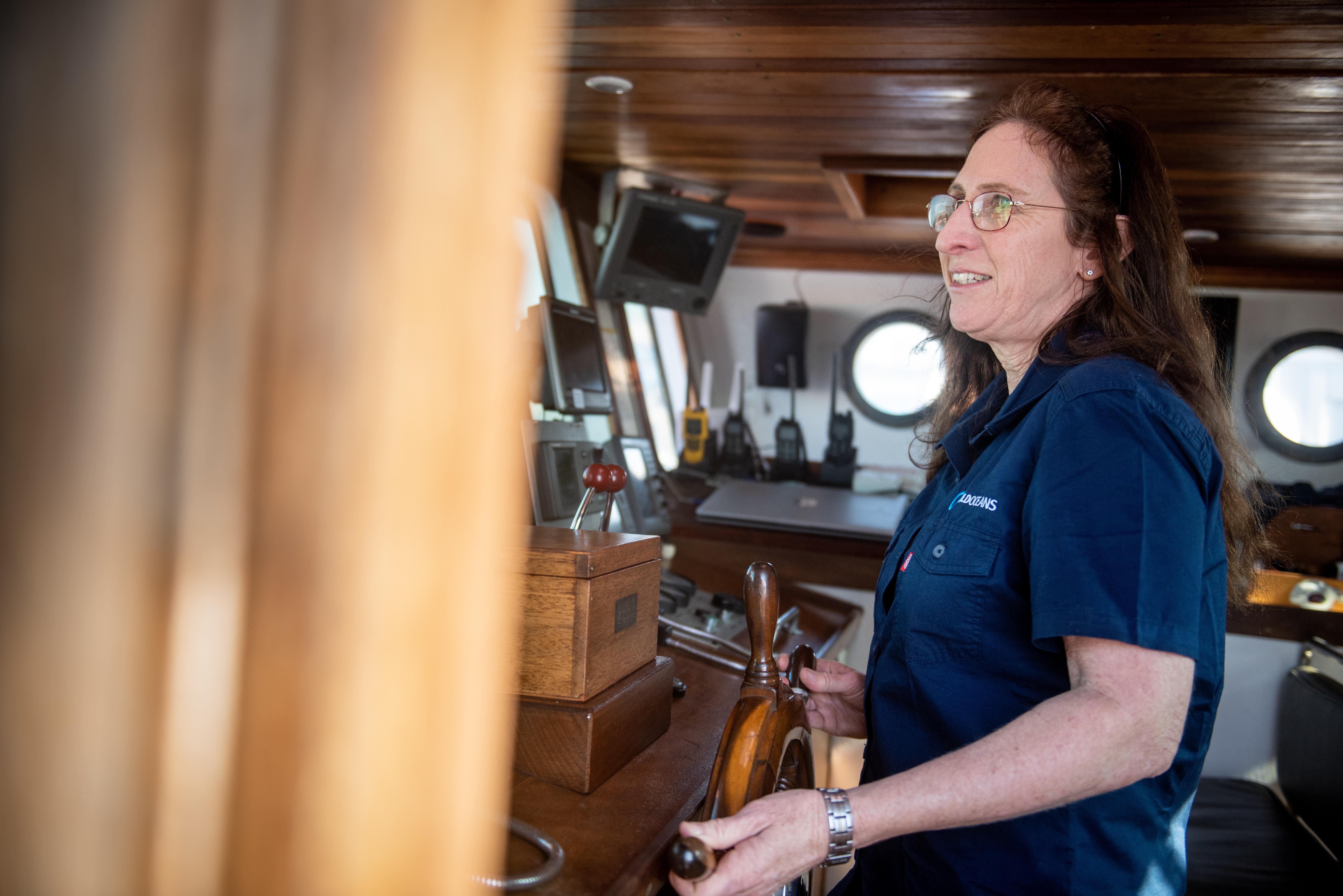 Dr. Jean Harris steering Angra